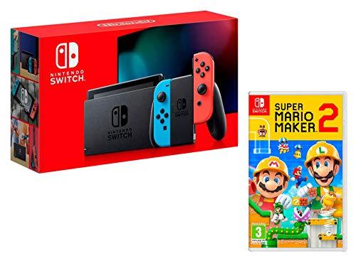 Nintendo Switch 32Gb Neon-Rot/Neon-Blau + Super Mario Maker 2
