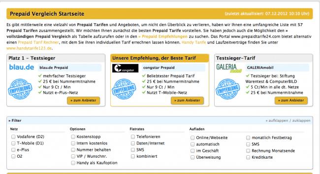 Den passenden Prepaid-Tarif im Angebots-Dschungel finden 10