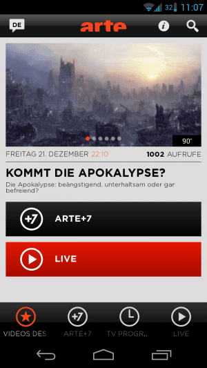 ARTE-App TV-Programm