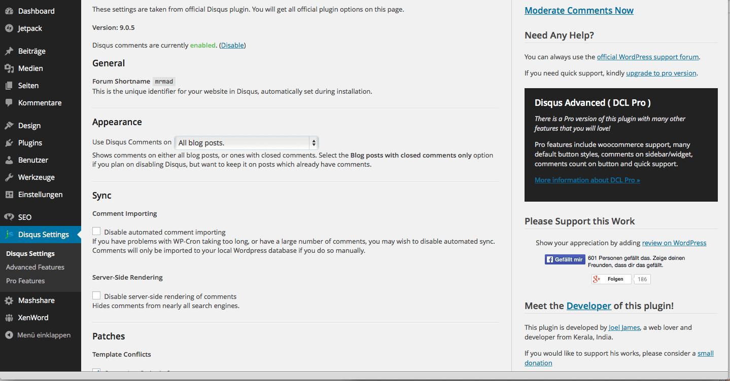 DLC Einstellungen