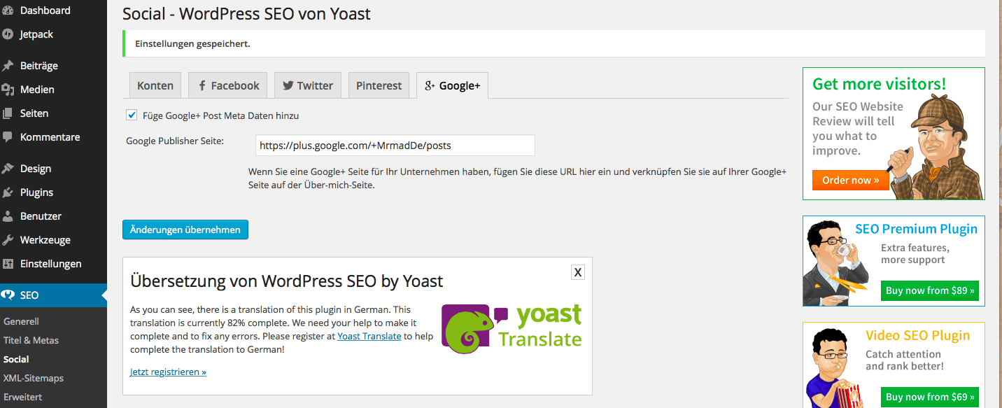 Yoast WordPress SEO 2.0 b