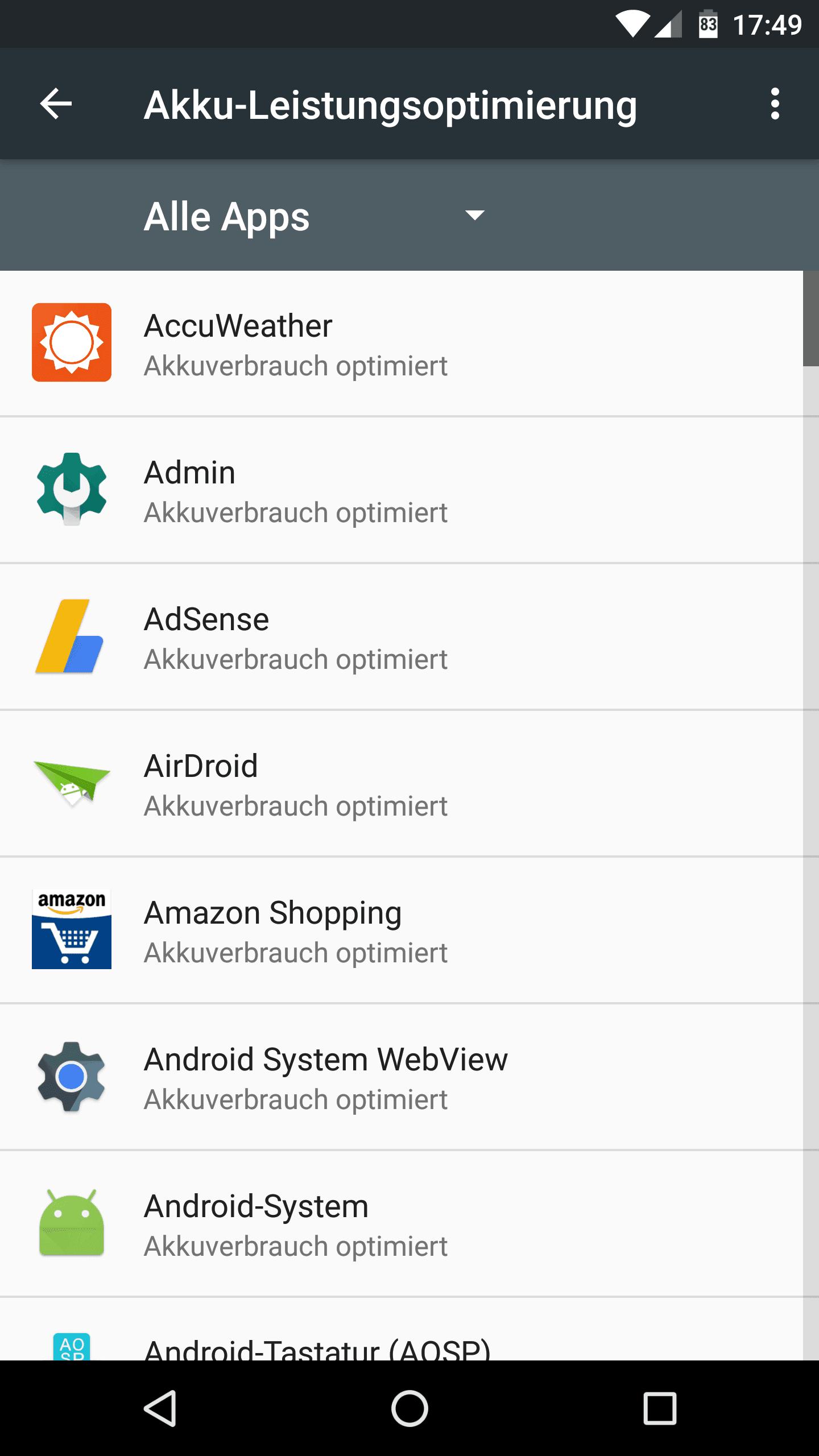 Anleitung: Doze deaktivieren unter Android Nougat & Marshmallow 3