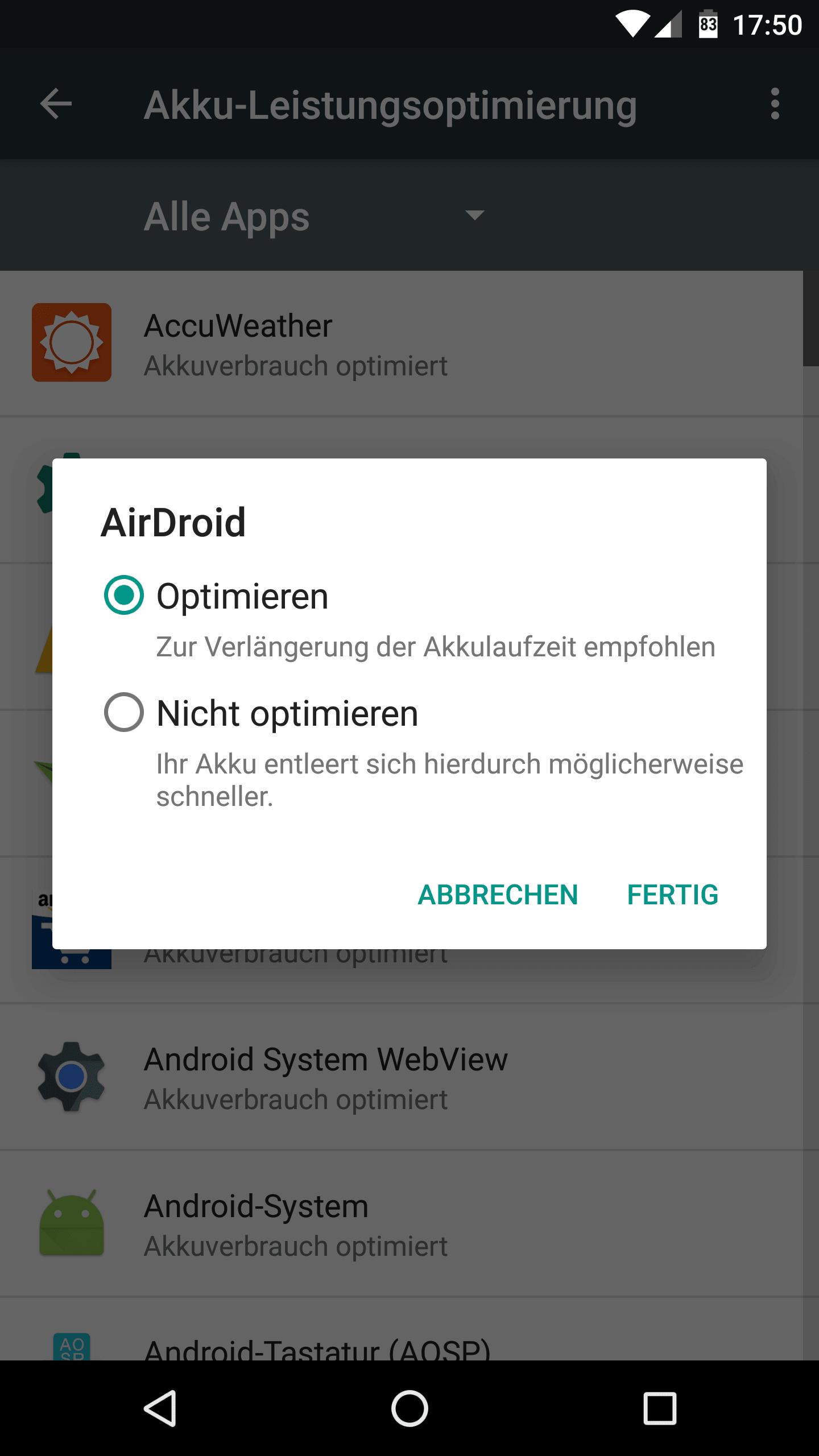Anleitung: Doze deaktivieren unter Android Nougat & Marshmallow 5