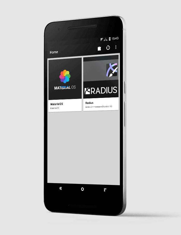 Tipp für Cyanogen Themes: Radius & Arcus App