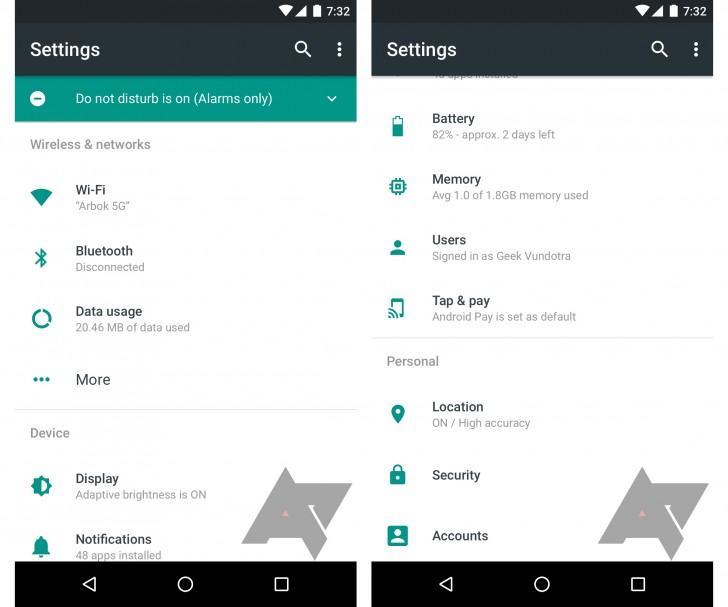 Screenshots der Einstellungen in Android 7.0 N Nutella aufgetaucht techboys.de • smarte News, auf den Punkt!