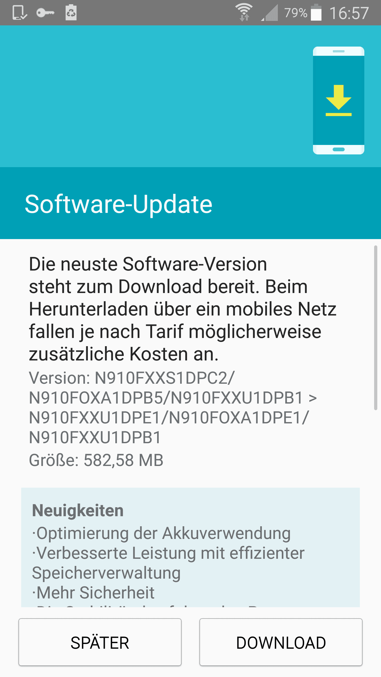 Samsung Galaxy Note 4 Android 6.0.1 Marshmallow Update in Deutschland & Österreich 2