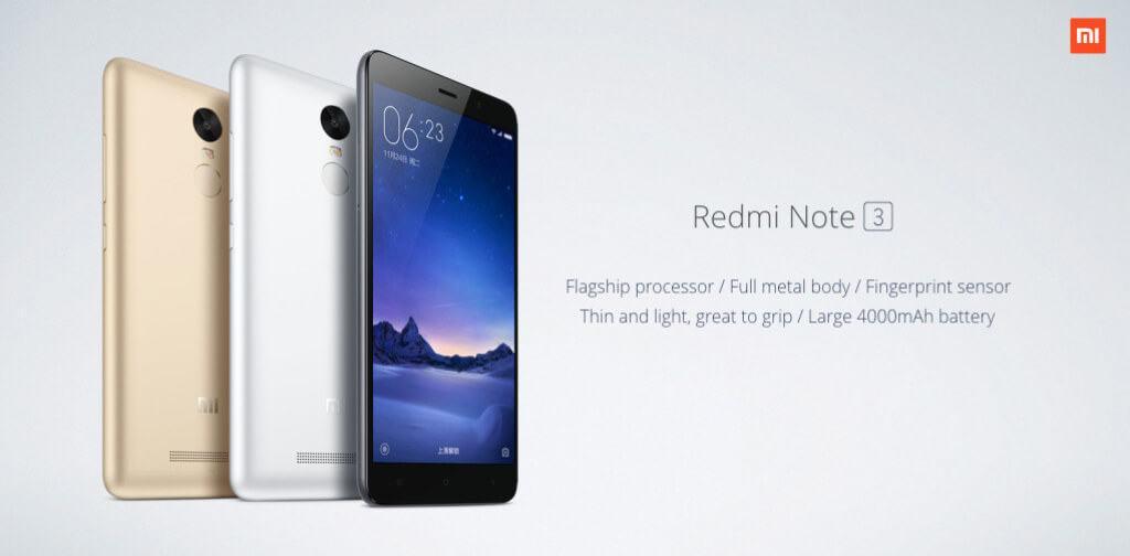 Xiaomi Redmi Note 3 d