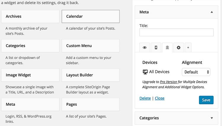Mehr Kontrolle über WordPress mit Widget Options 4