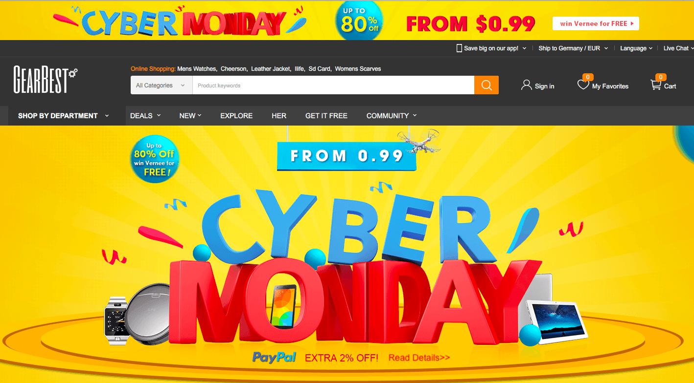 cyber monday deals xiaomi redmi 4 und elephone s7 stark