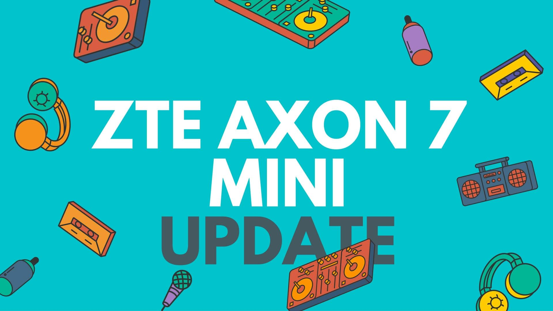 non-removable 2700mAh zte axon 7 mini nougat feel