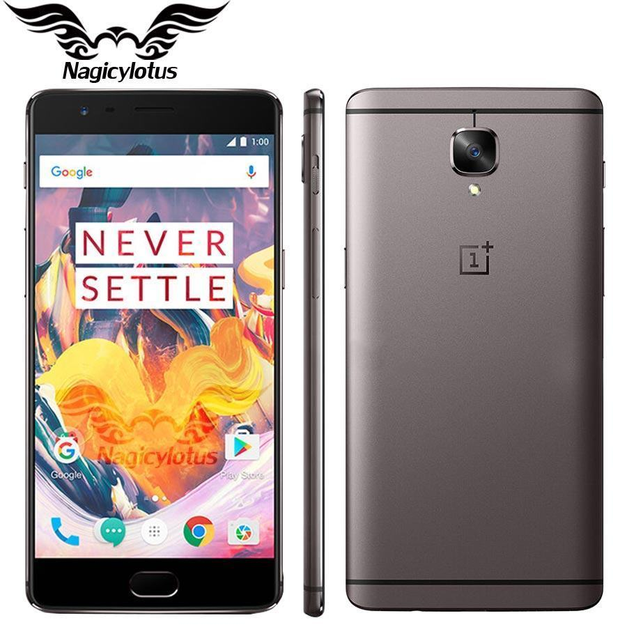 "New Original Oneplus 3T one plus 3 T Mobile Phone Snapdragon 821 Quad Core 5.5"" 6GB 64GB Android 7.0 LTE 16MP NFC Fingerprint"