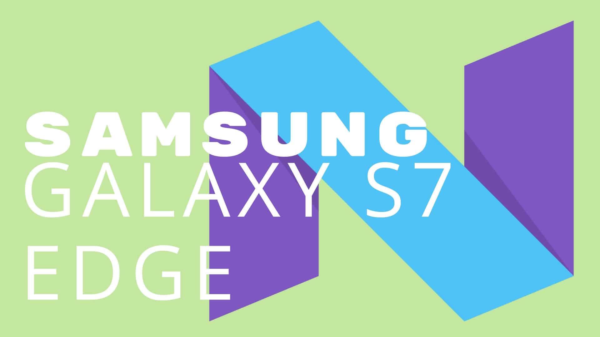 Update S7 Edge Samsung Galaxy S7 G930FXXU1DQB3