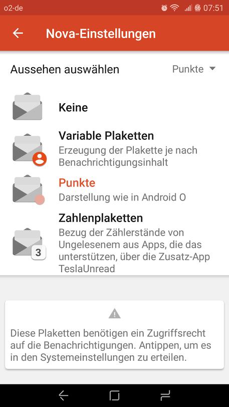 Nova Launcher Beta mit Android O Benachrichtungen