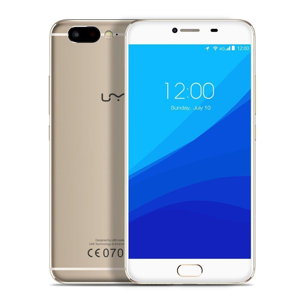 UMIDIGI Z Smartphone( 5.5 Zoll (14 cm) Display, 4G Dual SIM, Deca-Core Helio X27 CPU 2.6Ghz Prozessor, 4GB RAM 32GB ROM,3780mAh Akku, 13MP Haupt- + Front Kamera, Front Touch Fingerprint Sensor PE + Schnellladung, Android 6.0 (Android 7.0 Update) - Gold