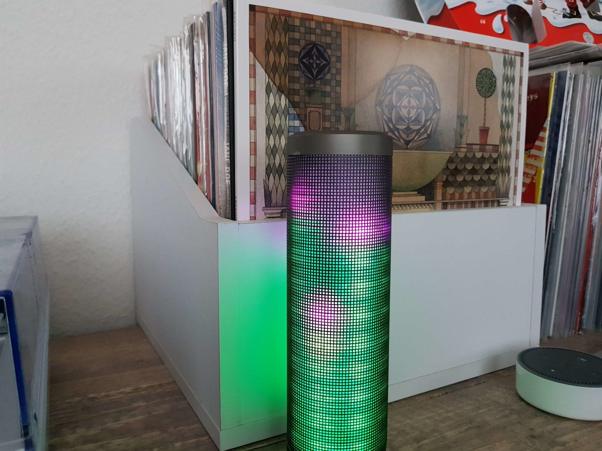 ELEGIANT tragbarer Bluetooth 4.0 Wireless LED Lautsprecher