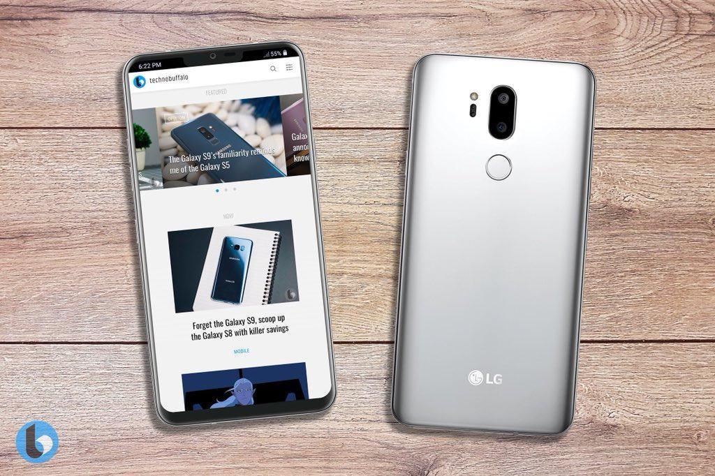 LG G7 Konzeptstudie bzw. Render zeigt nicht das finale Design (Quelle: TechnoBuffalo)