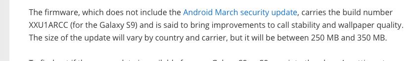 Galaxy S9 Update verbessert Telefonanrufe und Qualität der Hintergrundbilder