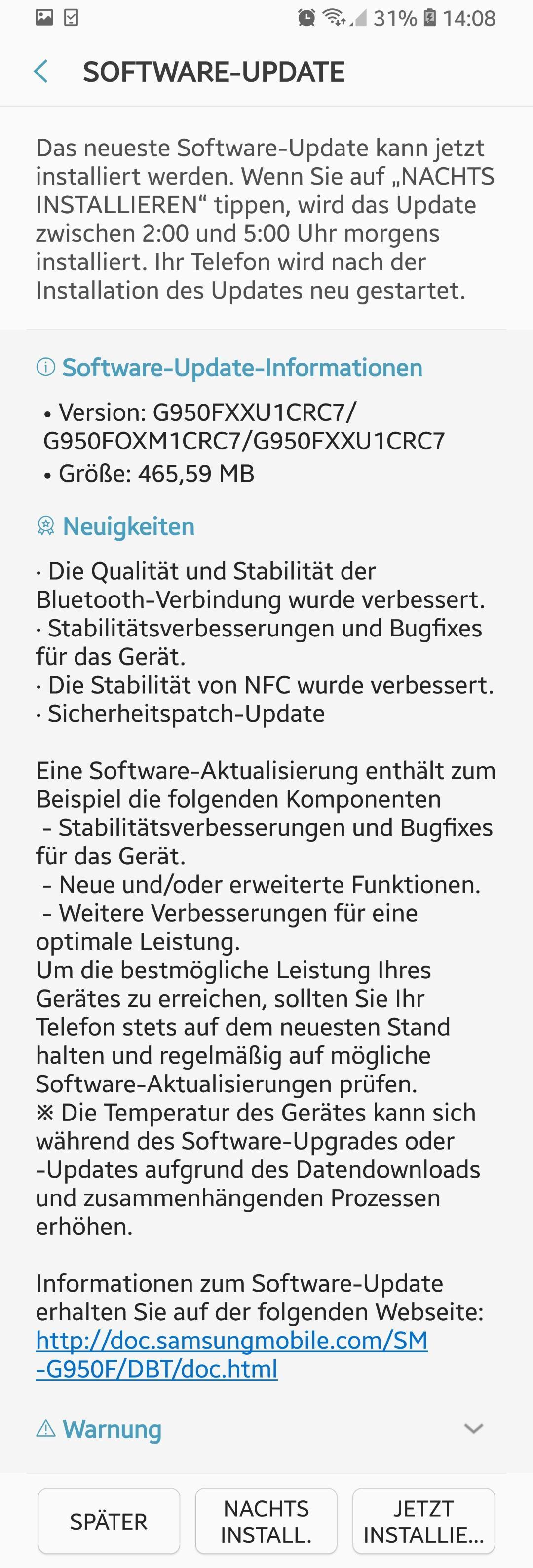 Samsung Galaxy S8 und S8+ Update: März-Patches, Fix für Blueetooth und NFC 2 morethanandroid.de Samsung Galaxy S8 und S8+ Update: März-Patches, Fix für Blueetooth und NFC