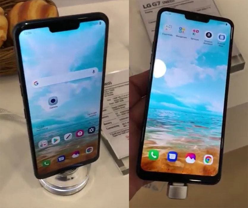 LG G7 Leak im iPhoneX-Stil...
