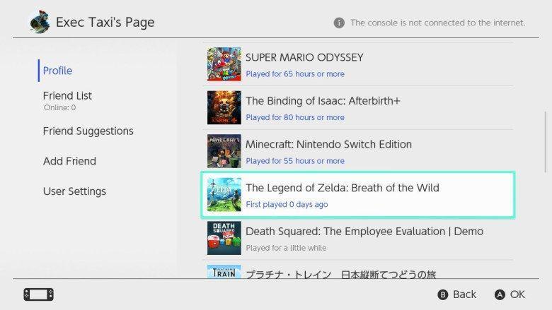 Nintendo Switch Spielstatistiken werden nach einem Jahr zurückgesetzt