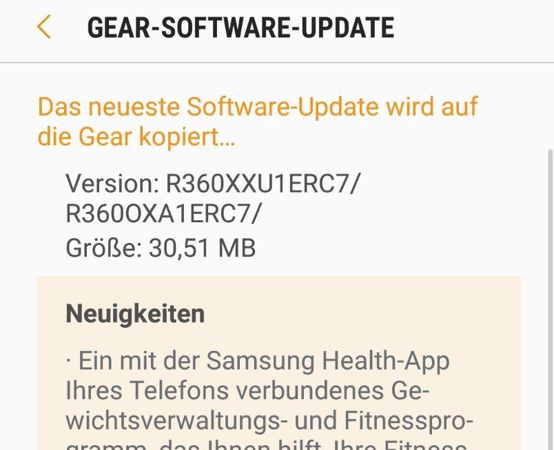 Samsung Gear Fit 2 (Pro) Update verbessert Sensoren und Workout-Erkennung 2