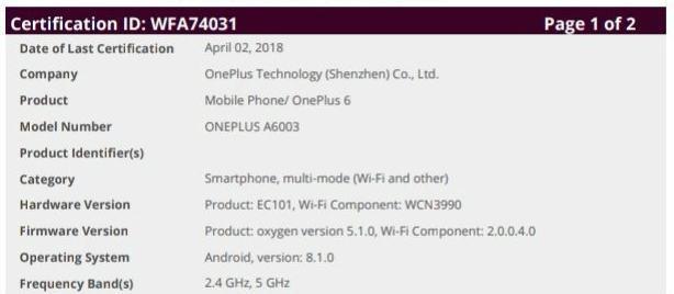 """OnePlus 6 finales Design """"zufällig"""" enthüllt"""
