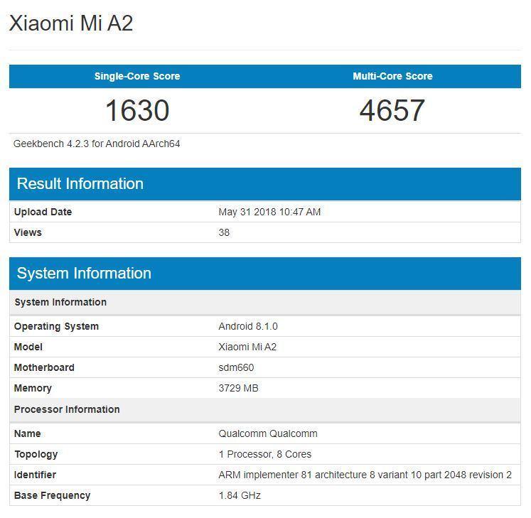 Xiaomi Mi A2 zeigt sich in ersten Benchmarks 11 techboys.de • smarte News, auf den Punkt! Xiaomi Mi A2 zeigt sich in ersten Benchmarks