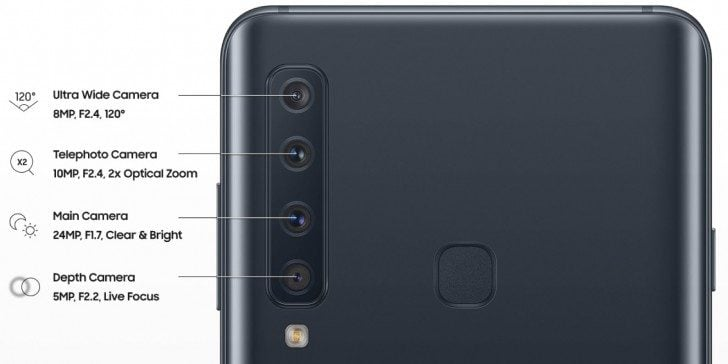 Novum: Samsung Galaxy A9 ist das erste Smartphone mit gleich vier Kameras auf der Rückseite 10