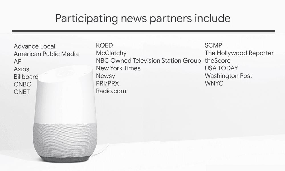 Google Assistant : bisherige Kooperations-Partner