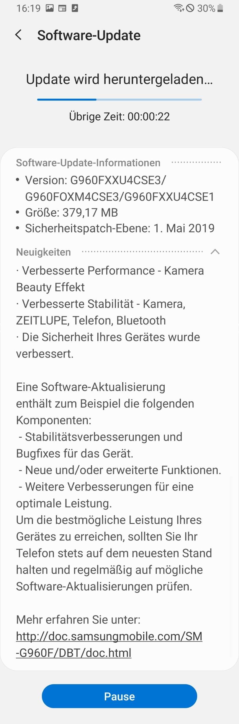 Galaxy S9 Update: Samsung bessert bei der Kamera nach techboys.de • smarte News, auf den Punkt!