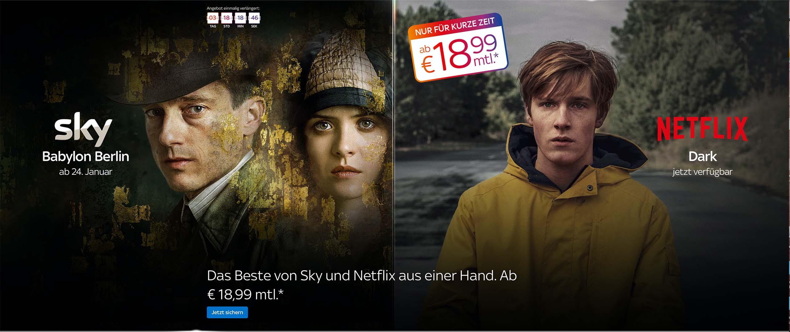 Sky Entertainment und Netflix